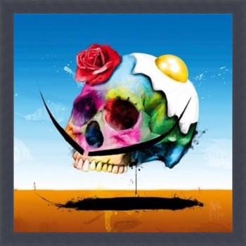 Surreal skull