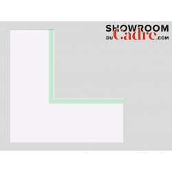 Double passe vert pastel standard