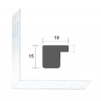 Cadre photo sur mesure BASIC 20 ARGENT
