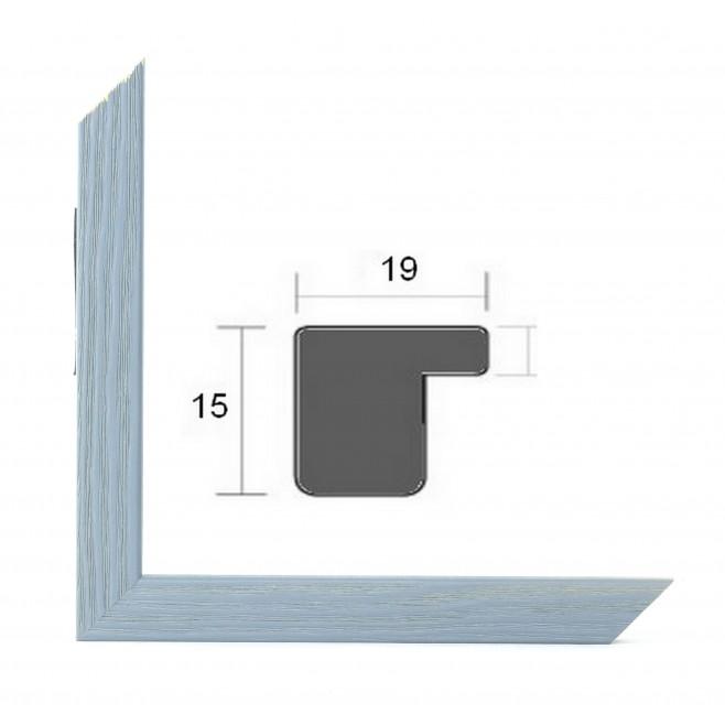 Cadre photo sur mesure BASIC 20 GRIS