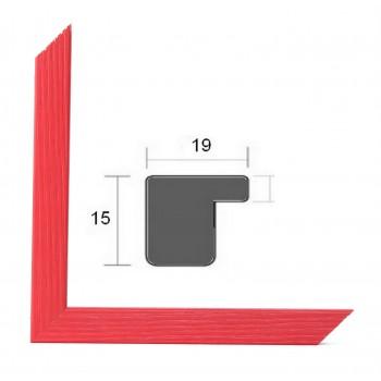 Cadre photo sur mesure BASIC 20 ROUGE