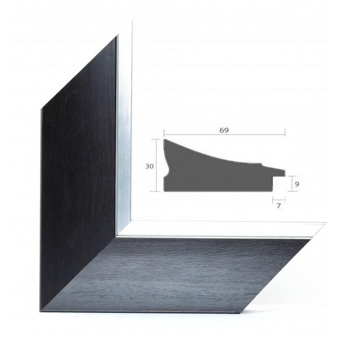 encadrement sur mesure satiné noir  cadre classique